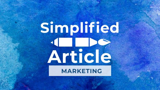 Simplified Article Marketing